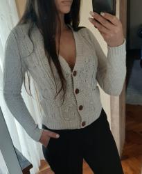 Fenomenalan-dzemper-mantil-kvalitet - Srbija: Zara Knit 🛍 fenomenalan pulover dzemper  boje peska pastel ili nude. P