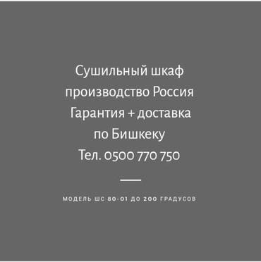 Сушильный шкаф. Производство Россия. Доставка по городу. в Бишкек
