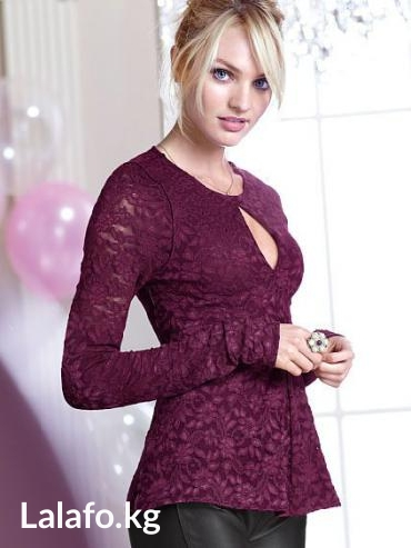 Victoria's secret lace keyhole top. Кофта. Размер s. в Бишкек