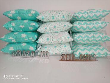 Бортики для детской кроватки на 4 стороны. Размер подушек 30*30см