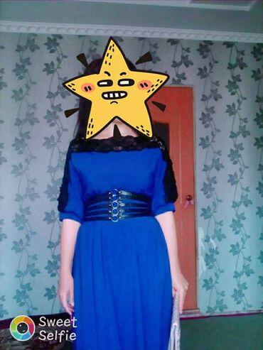 Женская одежда - Кызыл-Туу: Продаю шикарное турецкое платье, длина в пол, размер 44-46, цвет