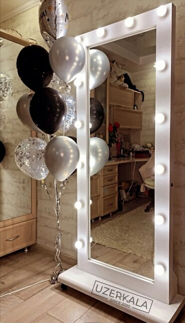 212 объявлений: Зеркала с подсветкой зеркало с лампами визажный стол трюмо ком