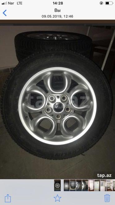 bmw-5-серия-518i-4mt - Azərbaycan: Bir komplekt diski teker satiram.mini kuper avtomobilinindir.cox