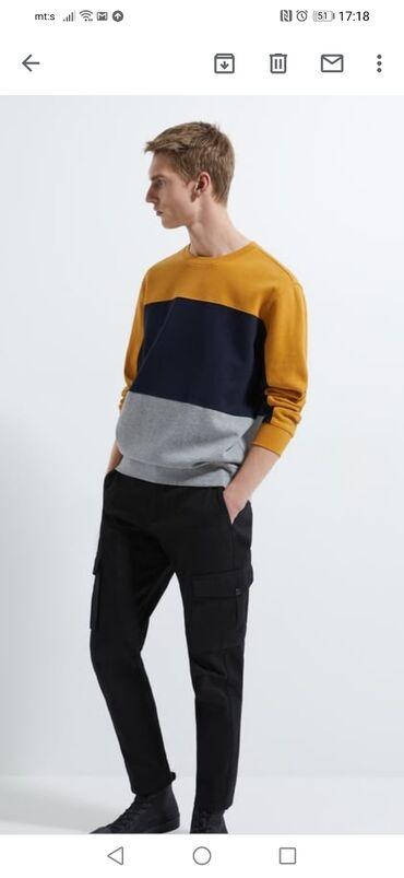Duks velicina xl - Srbija: Muski Zara duks u velicini XL.Sastav duksa je pamuk i viskoza.Veoma