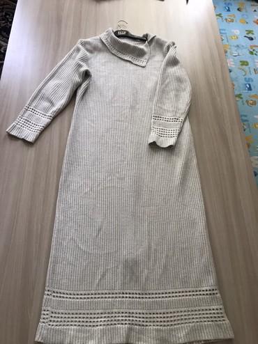 вязаное платье большого размера в Кыргызстан: Вязаное польское платье 50 размер. Плащ 1500сом