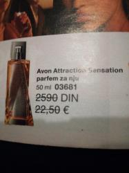 Za-kom-zenski - Srbija: Avon Attraction Sensation parfemzenski, 50 ml. Novo