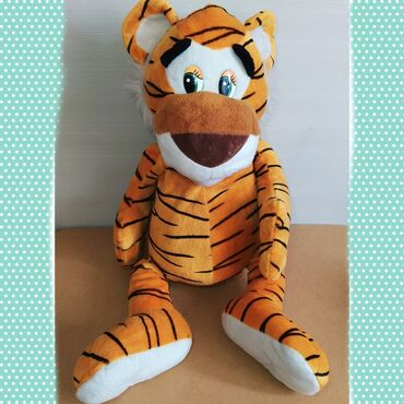 Продаю мягкую игрушку ТигрВ хорошем состоянии Сидя (туловище - голова)