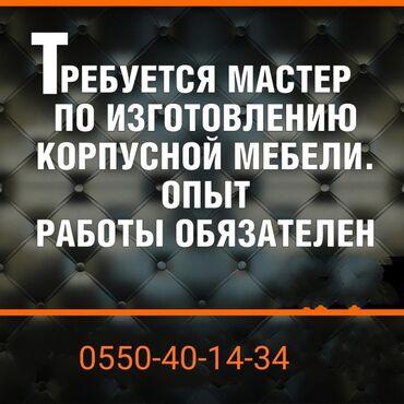 работа с ежедневной оплатой бишкек в Кыргызстан: Требуется мастер корпусной мебели опыт работы обязателен,желательно от