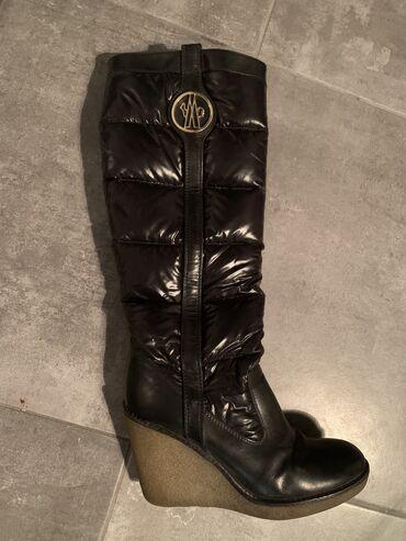 carape sa prstima u Srbija: Originalne Moncler cizme sa platformom od kuvane gume (nema klizanja)