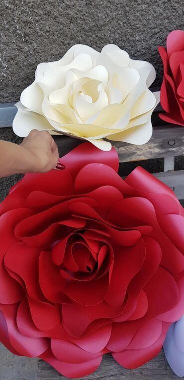 Продаю большие бумажные цветы. Цветы сделаны из дорогой бумаги с мага