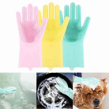 SILIKONSKE- Rukavice za pranje sudova - uživajte u nežnoj i očuvanoj