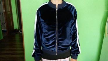 Продаю бомбер, темно-синий велюр, размер S, на рост 160-170 см