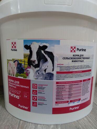 Подкормка для всех видов сельскохозяйственных животных purina. имеет