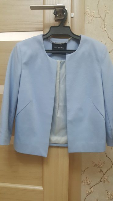Пиджак голубого цвета. Производство Польши. Размер 36 /42 в Бишкек