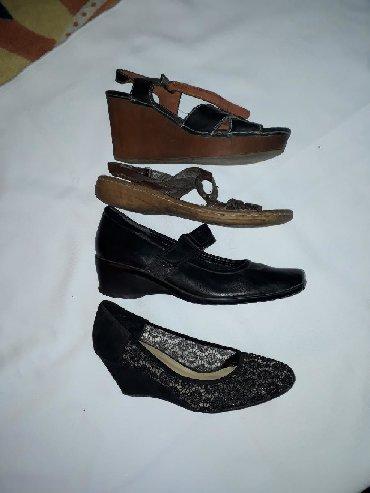 черные-женские-туфли в Кыргызстан: Качественная обувь 40 - 41 размера. Ажурные/сетчатые забрали. По
