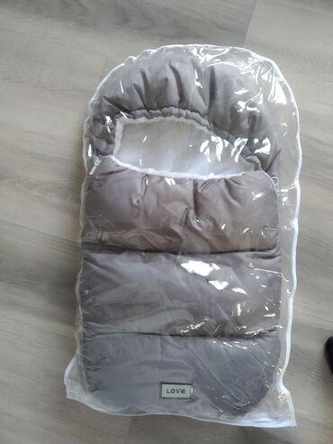 Продается серый конверт для новорожденного, нам подходило до 65 см