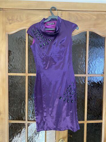 Все вещи по 300 сом. Размер бордового платья- s, фиолетовое платье-xs