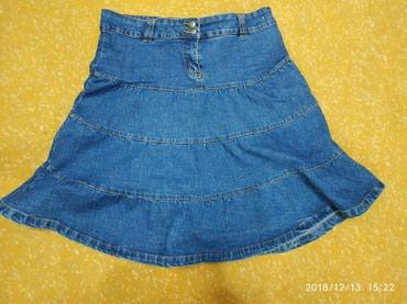Джинсовая юбка 48-50 размер,длина ниже колена