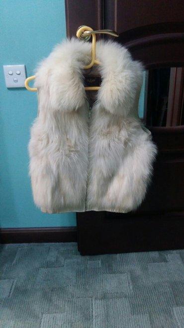 жилетка песцовая.отделка кожей.размер 44-46.носила мало в Бишкек