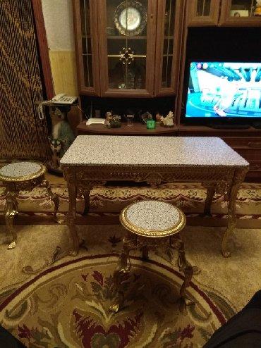 стол трюмо в Азербайджан: Журнальный стол и 2 табуретки