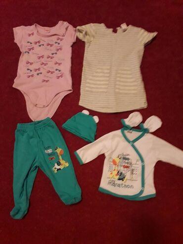 Komplet za bebu novo nenoseno, bodi i haljina za devojcice obuceno par