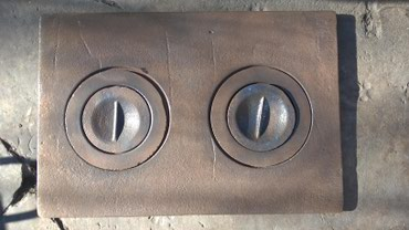 Чугунная плита двухконфорочная для в Бишкек