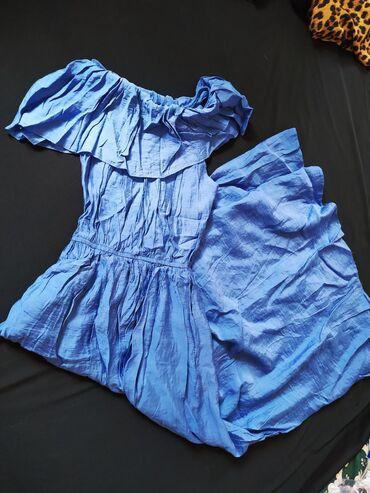 Платье женское крестьянка новое. С карманами и ремешком. Длинное до п