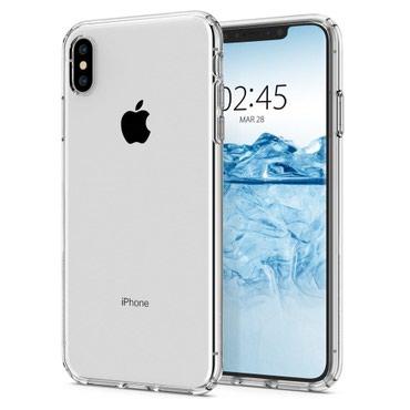 Прозрачный силиконовый чехол для iPhone XS в Бишкек