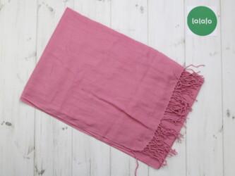 Женский шарф с бахромой, розовый   Размер: 190х65 см Нюансы: местами е
