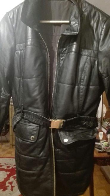 Kozna jakna sa dva lica italijanska nova postavljena 40/42 nas broj - Crvenka