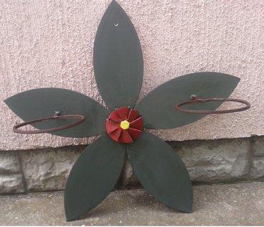 Zidni nosač za saksije, -cvet- , izradjen od lima debljine 5mm, - Nova Pazova