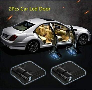 Bmw 2 серия active tourer 220d mt - Srbija: LED svetlo za vrata od auta na magnet, logo BMW, u setu 2 komada