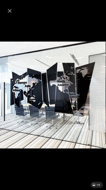 Большой акриловый украшение для офиса и гостинной, размеры от 50см на