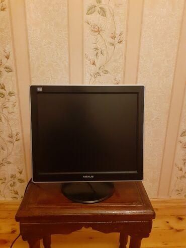 зарядка нокиа тонкая в Азербайджан: Monitor 17lik,komp+kamera üçün.tam işlək,problemsiz,kabelləri üstündə