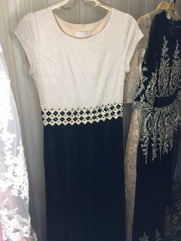 гипюр платье в Кыргызстан: ПРОДАЁТСЯ ПЛАТЬЕ В ОТЛИЧНОМ СОСТОЯНИИ!!!Длинное платье в пол, чёрный