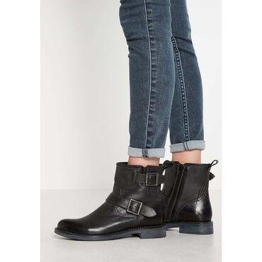 Кожаные ботинки Pier One(Германия),38р на узкую ножку.Состояние