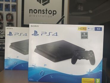 PlayStation 4 slim 1 original pultu, lazımi kabelləri ilə.- 500GB az