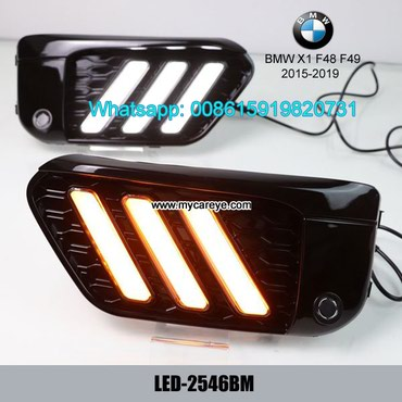 BMW X1 F48 F49 LED DRL day time running lights driving daylight in Tīkapur