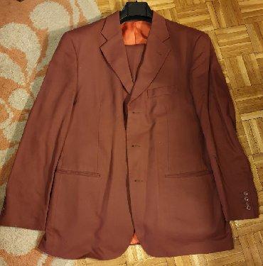 Sako-bordo-kom - Srbija: Becker Germany odelo - sako i pantalone, braon bordo boje, broj 54