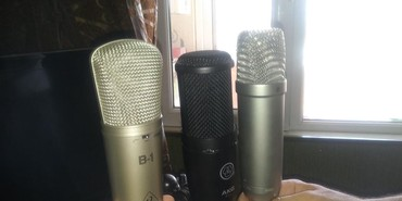 Bakı şəhərində Her nov studio mikrafonlari bizde behriger,akg,rode nt1a