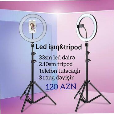 Foto və videokameralar - Cəlilabad: Led işıq 33 sm +Tripod 2.10 sm 120aznLed işıq 22 sm +Tripod 2.10 sm 85