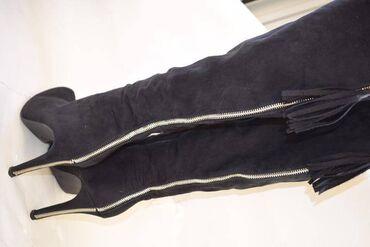 женские платья новые в Азербайджан: Сапоги-ботфорты Catwalk, привезены из Германии. Искусственная замша
