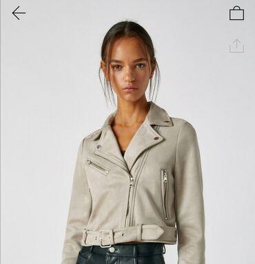 Pull Bear bajkerska jakna od imitacije brušene kože sa rajsferšlusom