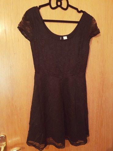 Crna sirena haljina - Srbija: HM mala crna haljina, kratka, cela cipkana, odgovara M i S velicini