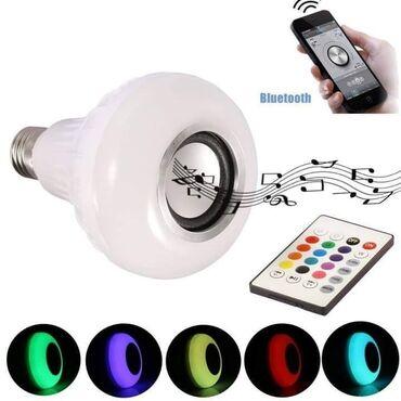 LED Bluetooth Muzička Sijalica-Zvučnik sa daljinskim RGB LED sijalica