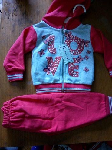 Dečija odeća i obuća - Irig: Nove termo trenerke komplet tople pamucne moderne za devojcice od 6 i