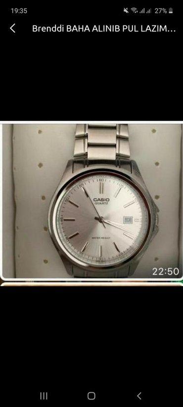 Gümüşü Kişi Qol saatları Casio