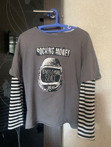 Лонгслив rocking money, состояние хорошее, размер стандарт