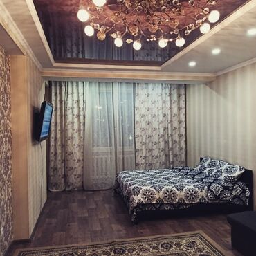 квартира суточный in Кыргызстан | ПОСУТОЧНАЯ АРЕНДА КВАРТИР: 1 комната, Постельное белье, Кондиционер, Парковка, Без животных