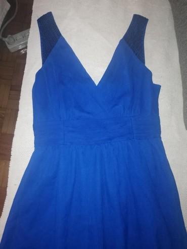 Kraljevsko-plavi-kombinezon-ucina - Srbija: Kraljevsko plava haljina, vel. M